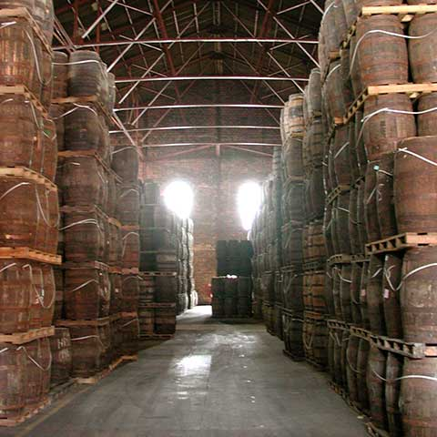 Rum-Lagerung in Barrels