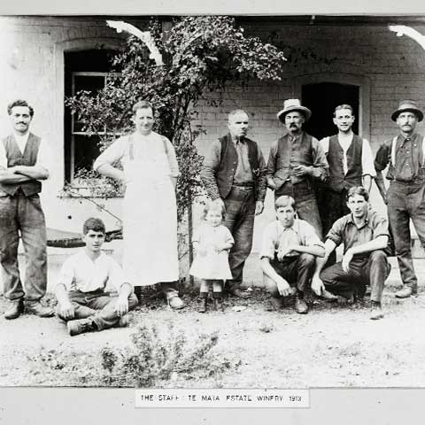 Das Te Mata Team in 1913